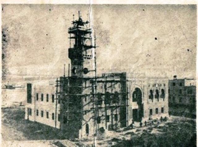 قصر البلدية أثناء البناء